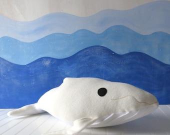 White Whale Plush, Whale Plush, Whale Plush, Toy Whale