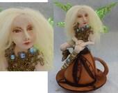 Helena Teacup OOAK Fairy Fairies Art Doll Sculpture Figurine Polymer Clay NEW Figurine Fairy Wings