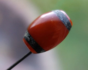 Antique Butterscotch Amber Carved Stick Pin