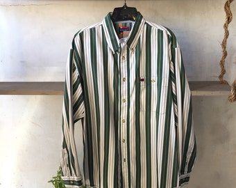 Mens Striped Button up