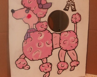 Pink poodle    toss game with 4  bean bags