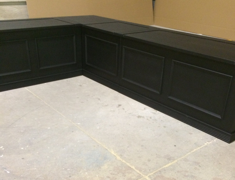 black laquer corner bench seat with storage. Black Bedroom Furniture Sets. Home Design Ideas