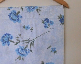 cornflowers...vintage cotton single bed sheet