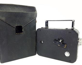CINE-KODAK EIGHT Model 25 Vintage 8mm Movie Camera - Works - 1930s - W/Leather Case
