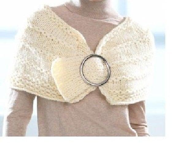 SALE Knitting Pattern for Shoulderette/ Shoulder