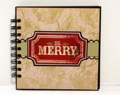 Christmas Themed 6x6 Premade Scrapbook Mini Album