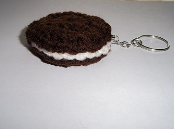 Oreo Sandwich Cookie Keychain
