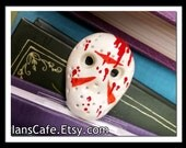 Friday the 13th Hockey Mask Bookmark - Bloody Haunted Horror - Camp Crystal Lake