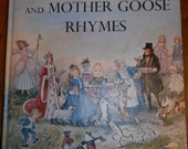 Marguerite de Angeli's Book of Nursery and Mother Goose Rhymes  1954 Vintage Excellent