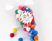 "Cone Bags (6""x12"") - Treat Bags or Candy Bags for Party Favors - Set of 24"