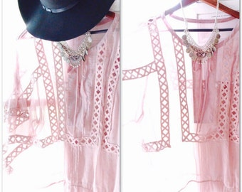 lg Boho tunic, lace tunic top, Bohemian gypsy top, Spell n gypsy fortune teller top, Aurumn rose Romantic lace Clothing, True rebel clothing