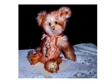 Collectable artist Teddy Bartholemew, 8inch, German mohair, juointed, glass eyes OOAKSALE