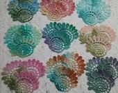 Hand Dyed Venise Lace Embellishment Crazy Quilt Applique Trim