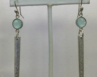 Chalcedony Silver Dangle Earrings