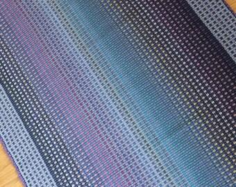 Woven Rag Rug inLavender and Blues 3' x 5' / Kitchen Rug Bathroom Rug