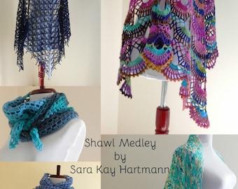 A Shawl Medley ~ 5 Crochet Patterns