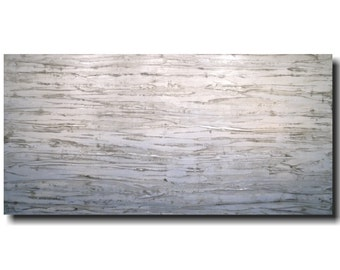Large painting  wall art - 24 X 48 Inches-by Artist JMJartstudio- Every moment-wall decor - gray- painting-Oil painting