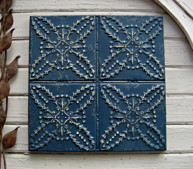 antique tin ceiling tile framed 2x2 antique by driveinservice. Black Bedroom Furniture Sets. Home Design Ideas