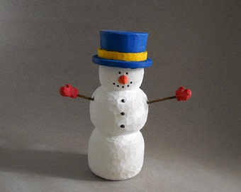Celebrate the fun things in Winter with Snowman carving