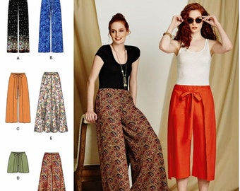 Palazoo Pants Pattern, Easy to Sew Wrap Pants Pattern, Simplicity Sewing Pattern 8134