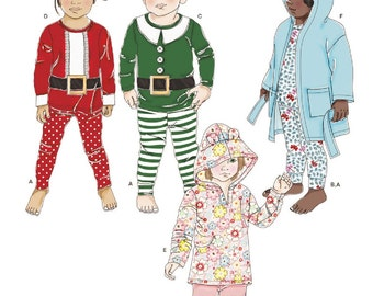Toddler's Elf Pajamas Pattern, Hoody Top and Leggings Pattern. Children's Bathrobe Pattern, Sz 6mo to 4, Simplicity Sewing Pattern 8224