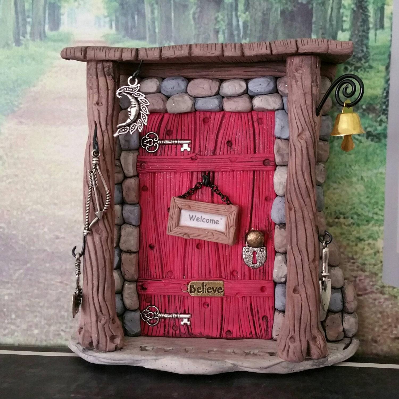 Fairy door personalized 1102 gnome hobbit elves sale for Fairy doors for sale