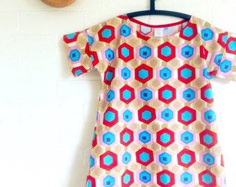 Geo Hexi Tunic womens Shift Dress