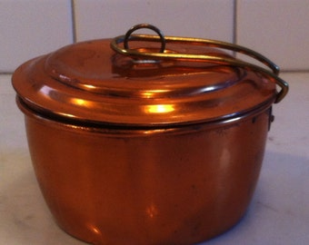 Copper Camping Pot with Lid
