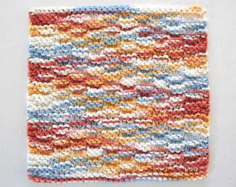 Cotton Dishcloth Hand Knit Dishcloth Knitted Dishcloth Rustic Kitchen Decor