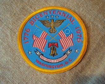 Vintage 1776 American  Bicentennial 1976 Washington D.C. Iron On Sew On Patch