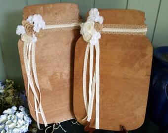mason jar guest book / wedding guest books alternative , mr and mrs sign , wedding decorations / guest book ideals , rustic guestbook