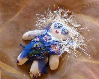 Voodoo Doll, Fabric Doll, Voo Doo Doll, Handmade Doll, Fantasy Doll by gothB4play