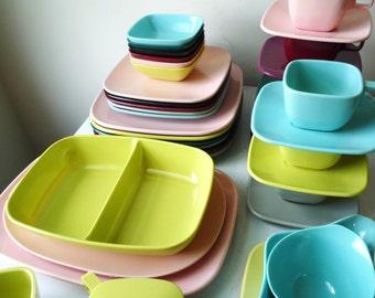 Midcentury Modern 39 Pc Melmac Dish Set Arrowhead & Brookpark, SALE