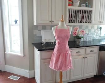 "Pink Lemonade in ""Ellie Style"" Women's Apron ~ 4RetroSisters"