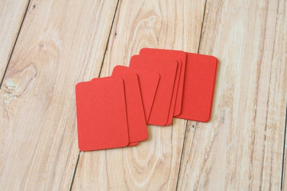 50pc Scarlet RED Eco Series Business Card Blanks