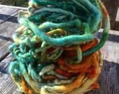 Aqua Sunset  HandSpun and Hand Dyed Yarn