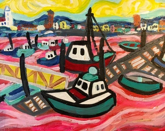 Boats at Cape Cod an original painting