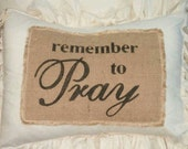 Get your 2017 Happy New Year coupon C description PILLOW Cover Pillow Slip COVER Pillow Sham remember to Pray Muslin Burlap Pillow Case