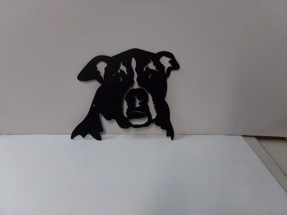 dog 046 small metal wall art silhouette. Black Bedroom Furniture Sets. Home Design Ideas