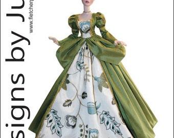 """PDF Princess Gown Pattern for 18.25"""" Evangeline Ghastly Dolls Tonner"""