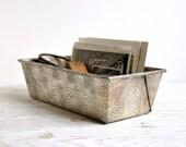 Vintage Storage Bin, Industrial Metal Bin, Small Parts Storage Organizer, Industrial Box, Industrial Storage
