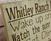 Farm rules sign, ranch rules sign, Typography Word Art Sign custom to your Farm and family