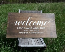 Welcome to Our Wedding Sign, Personalized Wedding Sign, Rustic Wooden Wedding Sign Wild Oaks