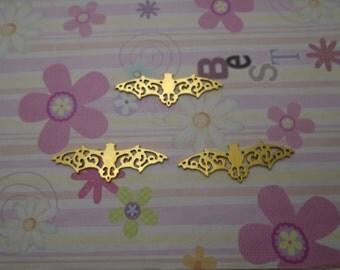 10pcs gold color bat findings 56x19mm