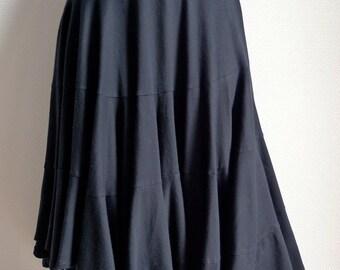 Comme des Garcons black cotton jersey asymmetric skirt