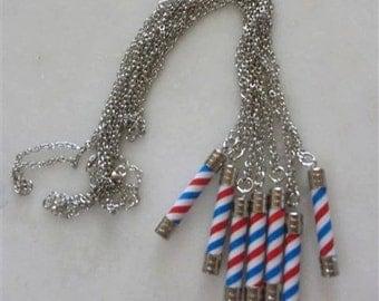 Barber Pole Necklace Paris Saint Germain Houston By Neduk