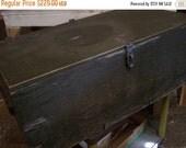 Valentines SALE Vintage Military Foot Locker Trunk, Army Issue, WW II, Army Green, Storage Trunk, 1940s-50s