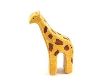 baby giraffe waldorf toy, baby giraffe toy, wooden toys, giraffe wood toy, eco friendly toys