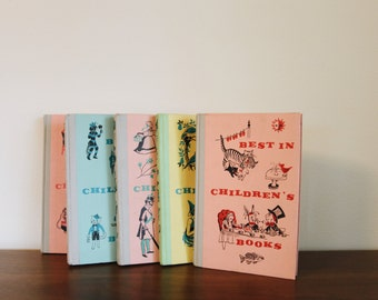 Set of 5 1950s childrens books