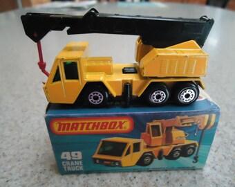 Vintage Lesney Matchbox Crane Truck #49
